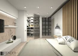Квартира для холостяка: Спальни в . Автор – RENDER