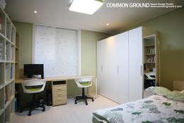 목동6단지 27평형(88m2) 인테리어 : 커먼그라운드의  침실