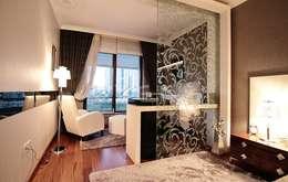 QZENS MOBİLYA – Göktürk Konutu: modern tarz Yatak Odası