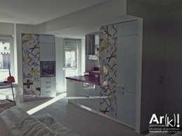 Salas de estilo moderno por arkfattoriale