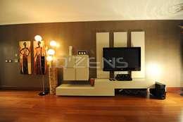 QZENS MOBİLYA – Park Yıldız Konutları : modern tarz Oturma Odası