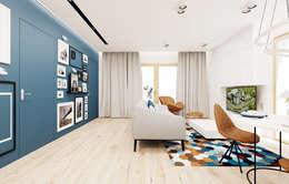 غرفة المعيشة تنفيذ Ale design Grzegorz Grzywacz