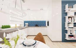 60m2 mieszkanie w Dąbrowie Górniczej: styl , w kategorii Kuchnia zaprojektowany przez Ale design Grzegorz Grzywacz