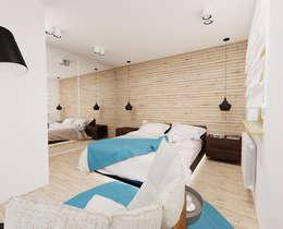 60m2 mieszkanie w Dąbrowie Górniczej: styl , w kategorii Sypialnia zaprojektowany przez Ale design Grzegorz Grzywacz