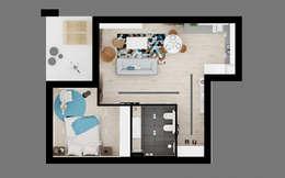 60 Quadratmeter Wohnung mit belebendem Interieur