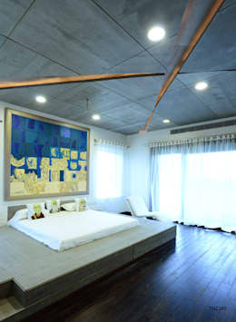 Residential Bungalow: modern Bedroom by NA ARCHITECTS