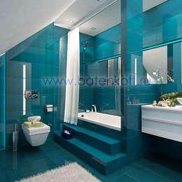浴室 by Дизайн студия 'Дизайнер интерьера № 1'