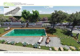 Pil Tasarım Mimarlik + Peyzaj Mimarligi + Ic Mimarlik – Datça'da Konut Peyzajı: akdeniz tarzı tarz Bahçe