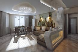 Salon de style de style eclectique par МайАрт: ремонт и дизайн помещений