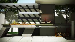 Asador Moderno: Jardines de estilo moderno por Modulor Arquitectura