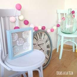 Salones de estilo  por IDEAS A LA TIZA