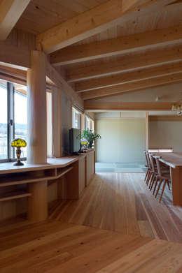 Projekty,  Salon zaprojektowane przez 大森建築設計室