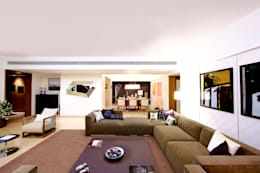 ABIL Experience Center - Castle Royale T4: modern Living room by Aijaz Hakim Architect [AHA]