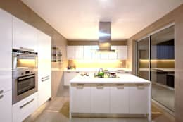 ABIL Experience Center - Castle Royale T4: modern Kitchen by Aijaz Hakim Architect [AHA]
