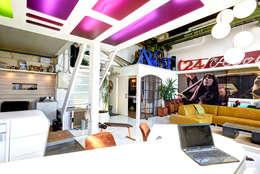 Projekty,  Salon zaprojektowane przez FM Design