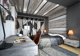 Спальная комната  в . Автор – Point Dizayn