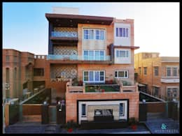 Completed Project at a glance #Residence @Paota,Jodhpur.: modern Houses by RAVI - NUPUR ARCHITECTS