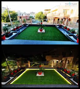 Terrace Landscaping:  Terrace by RAVI - NUPUR ARCHITECTS