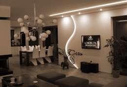 moderne Woonkamer door Pracownia Projektowa ARCHIPELAG