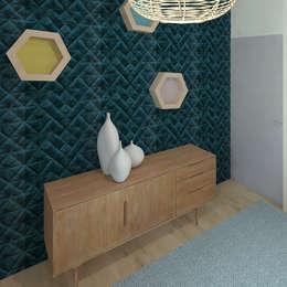 Un pied à terre definitif: Chambre de style de style Scandinave par COLOMBE MARCIANO