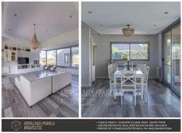 Casa El Paso V: Comedores de estilo moderno por ARRILLAGA&PAROLA