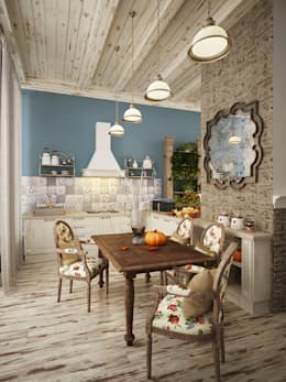 rustic Living room by homify