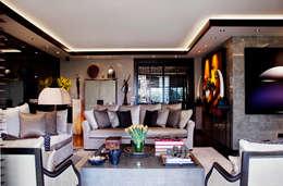 Kerim Çarmıklı İç Mimarlık – K.Ç EVİ: modern tarz Oturma Odası