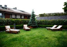 Kerim Çarmıklı İç Mimarlık – K.Ç EVİ: modern tarz Bahçe