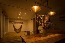scandinavian Dining room by タイラ ヤスヒロ建築設計事務所/taira yasuhiro architect & associates