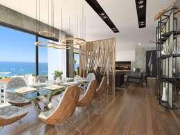 Murat Aksel Architecture – Suadiye rezidans: modern tarz Yemek Odası
