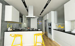 modern Kitchen by Murat Aksel Architecture