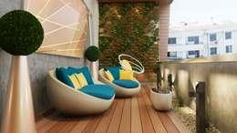 Jardin d'hiver de style  par Murat Aksel Architecture