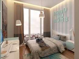 Murat Aksel Architecture – Suadiye rezidans: modern tarz Çocuk Odası