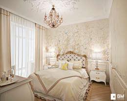 Классический дизайн квартиры на Остоженке: Спальни в . Автор – GM-interior