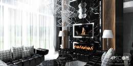 Гостиная в . Автор – ArtCore Design