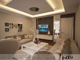İNDEKSA Mimarlık İç Mimarlık İnşaat Taahüt Ltd.Şti. – YAŞANILABİLECEK ALANLAR TASARLIYOR VE YAPIYORUZ..: modern tarz Oturma Odası