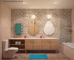 Квартира в ЖК Царицино: Ванные комнаты в . Автор – Tatyana Pichugina Design