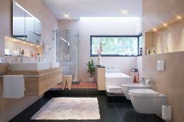 modern Bathroom تنفيذ Menz Design