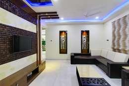 KREATIVE HOUSE: eklektik tarz tarz Oturma Odası
