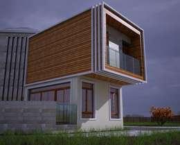 H.E: Mimarlık – Ahmet Bey Edremit Villa Projesi: modern tarz Evler