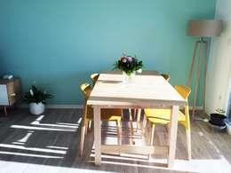 Sala da pranzo in stile in stile Scandinavo di Mint Design