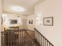 Неоклассика: визуализация и дизайн Дома Досуга : Коридор и прихожая в . Автор – OK Interior Design