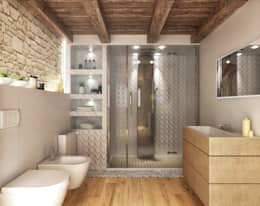 rustic Bathroom by redesign lab