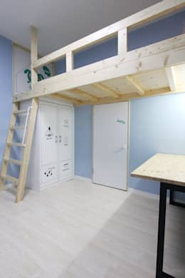 여좌동주택: 핸디디자인 의  아이방