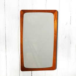Miroir teck rectangle vintage : Salon de style de style Scandinave par Perlapatrame