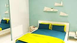 Aménagement d'une chambre parentale en Bourgogne : Chambre de style de style Scandinave par Tiffany FAYOLLE