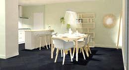 Aménagement d'une salle à manger en Bourgogne : Salle à manger de style de style Scandinave par Tiffany FAYOLLE