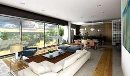 Projekty,  Salon zaprojektowane przez Esquiliano Arqs