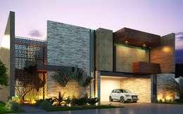 "Casa BC2 ""Privada Blue Cedar"": Casas de estilo moderno por Esquiliano Arqs"
