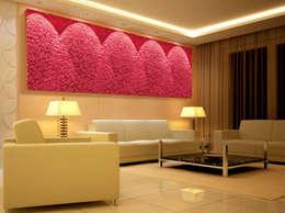 Naturalny mech na ściany marki Moss Trend® w kolorach Pantone 2016: styl , w kategorii Domowe biuro i gabinet zaprojektowany przez BandIt Design